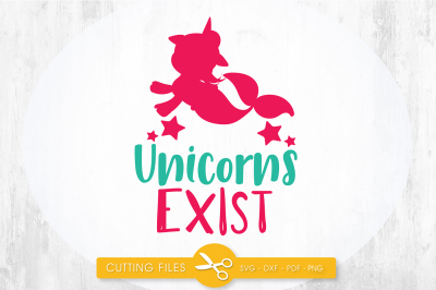 Mermaid  unicorns exist SVG, PNG, EPS, DXF, cut file