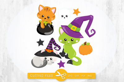 Witchy poo kitties SVG, PNG, EPS, DXF, cut file