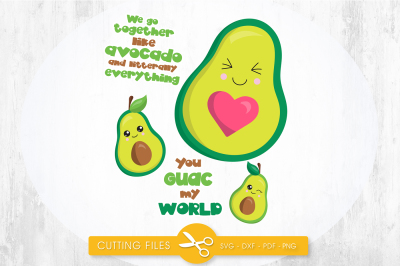 You guac my world SVG, PNG, EPS, DXF, cut file