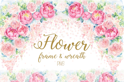 Flower frame&wreath