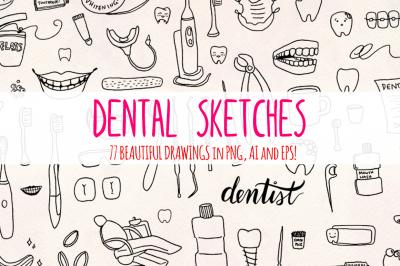 77 Dental + Dentist Vector Graphics