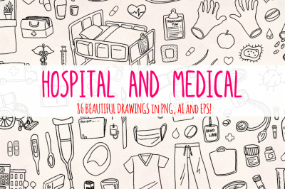 86 Medical and Hospital Vector Graphics