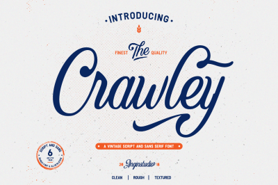 The Crawley ( 6 fonts with extras )