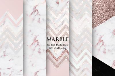 Rose Marble Digital Paper