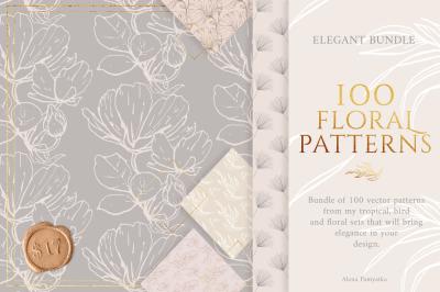 BUNDLE!!! 100 floral patterns!