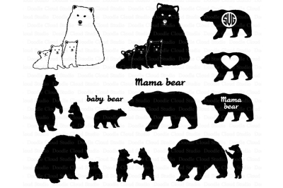 Bear SVG, Bear Family svg, Bears SVG files .