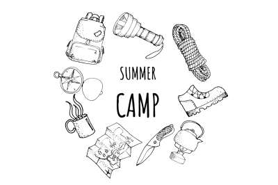 Outline camping tools set