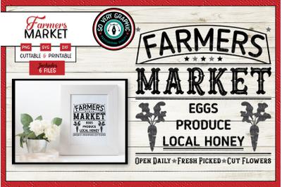 Farmers Market Sign | Eggs | Produce | Local Honey | SVG Cut File