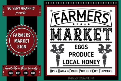 Farmers Market Sign | Eggs | Local Honey | SVG | EPS | DXF | PNG