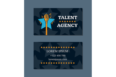 Vector talent agency business card template