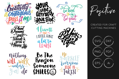 Positive Quotes SVG, Inspiration SVG, SVG Cut Files
