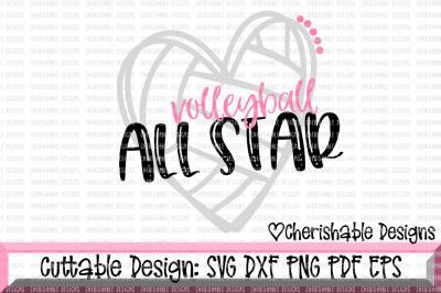 Volleyball All Star SVG