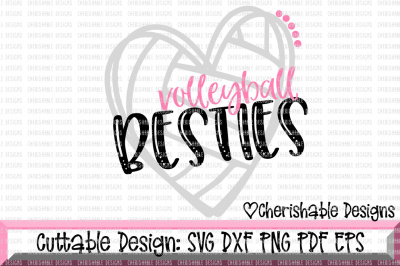 Volleyball Besties Cutting File