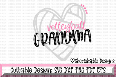 Volleyball Grandma Cutting File