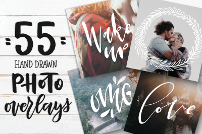 55 Hand Drawn Photo Overlays