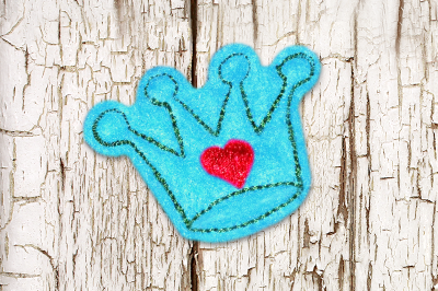 Princess Crown ITH Feltie | Applique Embroidery