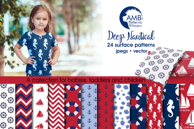 Deep Nautical Surface Patterns, Nautical Papers, AMB-112