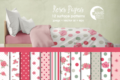 Roses Patterns, Roses Papers AMB-954
