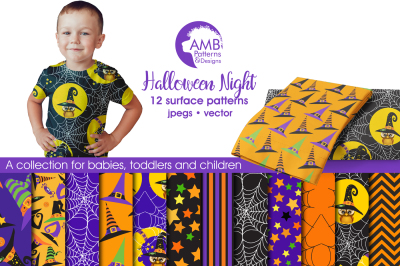 Halloween Night Patterns, Halloween Papers, AMB-995