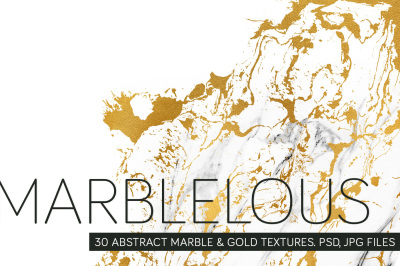 Marblelous: abstract marble & gold