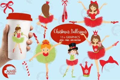 Christmas Ballerinas Cliparts AMB-571