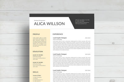 Colored Resume template/Word Resume