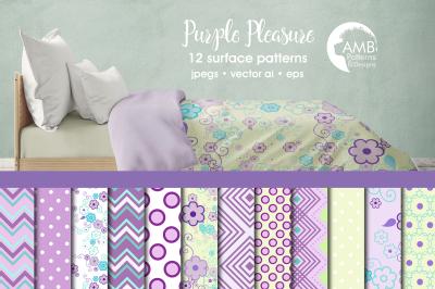 Purple Pleasure Patterns, Purple general papers AMB-802