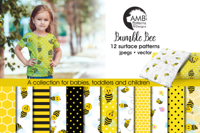 Bumble Bee Surface Patterns, Honey Bee Papers, AMB-916