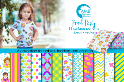 Pool Party Surface Patterns, Party Papers, AMB-906