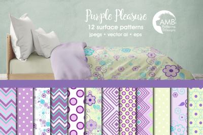 Purple Pleasure Surface Patterns, Purple Papers, AMB-802