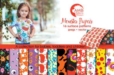 Monster Surface Patterns, Monster Papers, AMB-555
