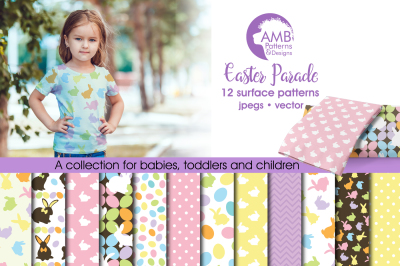Easter Parade Surface Patterns, Easter Papers, AMB-390