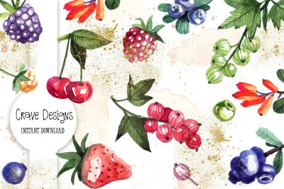 Forest Fruits Clip Art