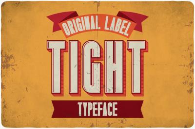 Tight typeface
