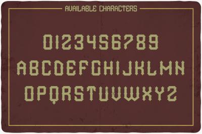 Wild Land typeface