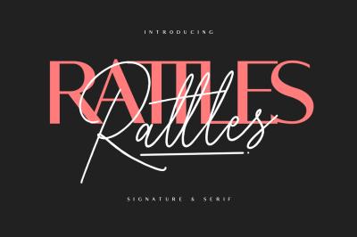 Rattles Signature + Serif