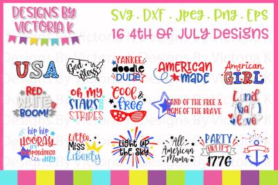 4th July SVG Bundle, SVG, DXF, PNG, EPS