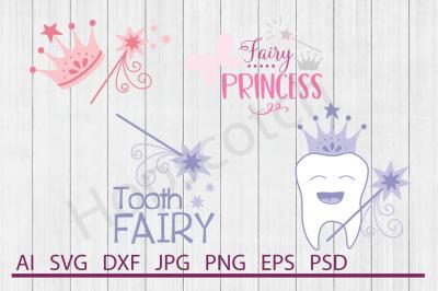 Fairies Bundle, SVG Files, DXF Files, Cuttable Files