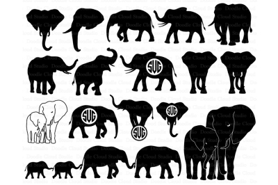 Elephants SVG, Elephant family svg, Elephant SVG files.