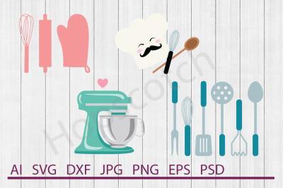 Kitchen Bundle, SVG Files, DXF Files, Cuttable Files