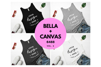 Bella Canvas 6488 Tank Top Mockup Flat Lay Bundle Vol. 2
