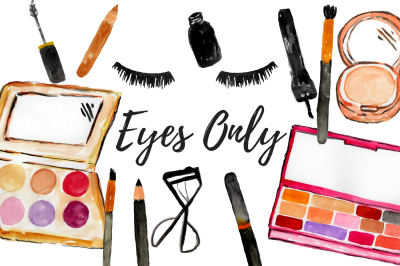 Watercolor Eye Makeup Cosmetic Clipart