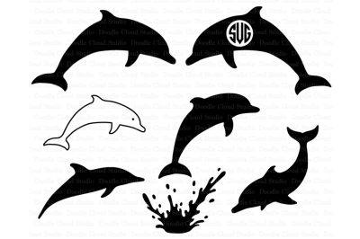 Dolphins SVG, Dolphin Monogram, Dolphin SVG files