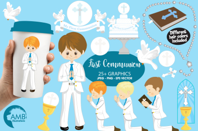 Boys First Communion cliparts AMB-1262