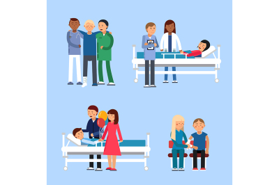 Care of patients in hospital. Medical therapy