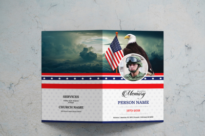 Funeral Brochure for Army Military