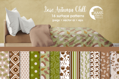 Bare Autumn Chill patterns, Autumn papers AMB-1404