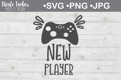 New Player SVG Cut File