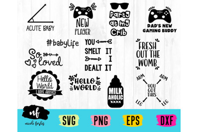 Baby Onsie SVG Bundle