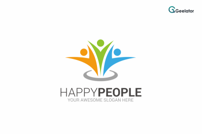 Happy People Logo Template
